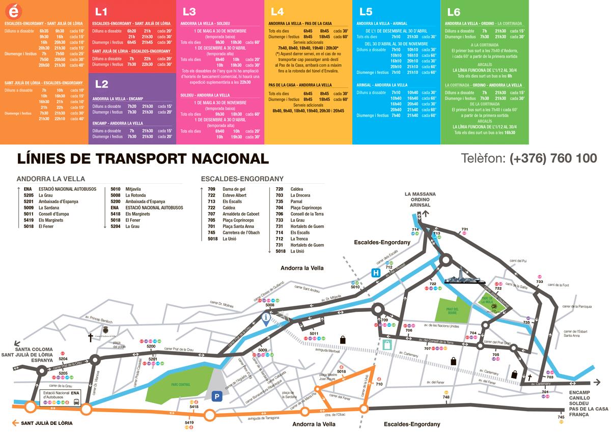 Остановки автобусов в Андорре ла Велья
