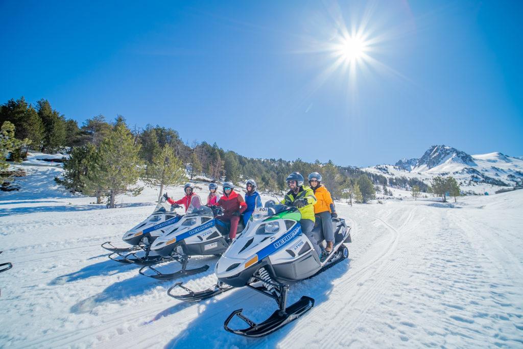 Катание на снегоходах в Андорре