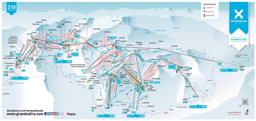 Ски пасс Грандвалира и карта