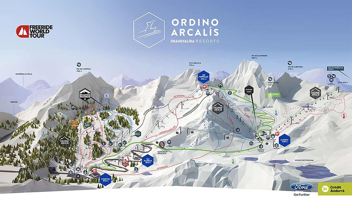 Карта Ордино Аркалис